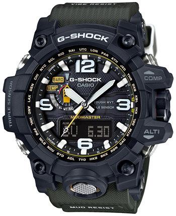 Мужские аналогово-цифровые часы Mud Master Green с браслетом 56x59mm GWG1000-1A3 G-Shock