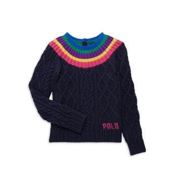 Вязаный свитер для маленьких девочек Polo Ralph Lauren