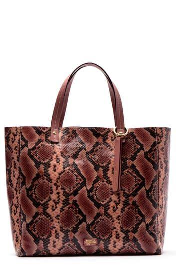 Кожаная сумка-тоут Margaret со змеиным принтом Frances Valentine
