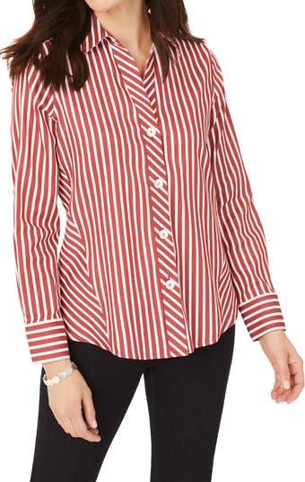 Рубашка из эластичного материала в полоску Paityn FOXCROFT