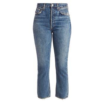 Прямые джинсы Riley со средней посадкой до щиколотки AGOLDE