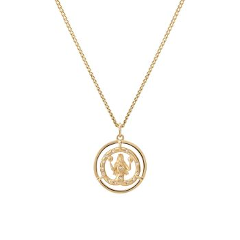 Eternita 14K Gold Vermeil & amp; Ожерелье с подвеской-цепочкой Sapphire ID Miansai