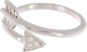 Кольцо со стрелкой вокруг кристалла Swarovski ADORNIA