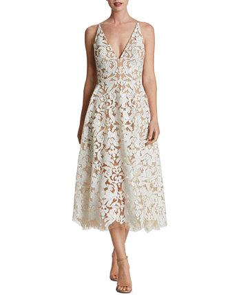 Кружевное платье миди Blair Dress the Population