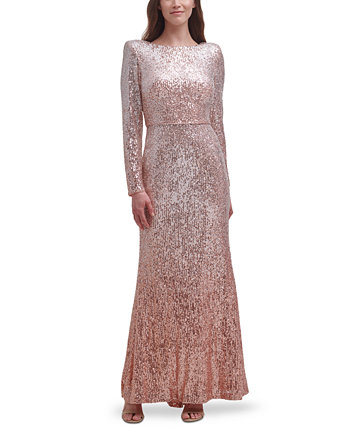 Платье Ombré с пайетками Eliza J