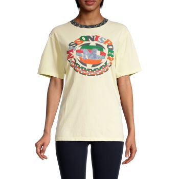 Logo Graphic Cotton T-Shirt M Missoni