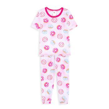 Пижамный комплект из двух пончиков для маленьких девочек Esme