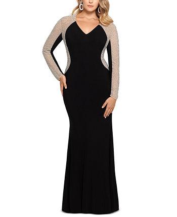 Платье большого размера с V-образным вырезом XSCAPE