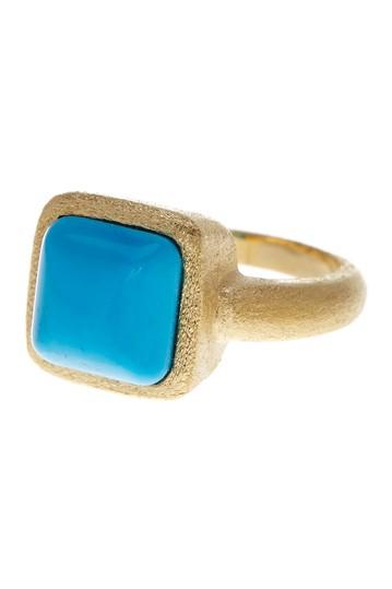 Кольцо Cabochan с атласной отделкой из магнезита с покрытием из золота 18 карат Rivka Friedman