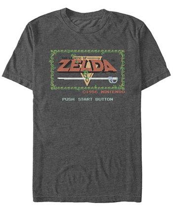 Мужская футболка с коротким рукавом с надписью Legend of Zelda Nintendo