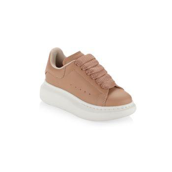 Little Kid's & amp; Детские кожаные кроссовки оверсайз Alexander McQueen