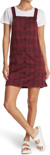 Plaid Double Knit Coverall Dress KENEDIK