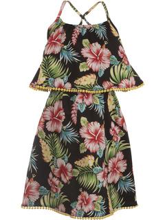 Платье Lee с тропическим цветочным принтом (для малышей / маленьких детей / детей старшего возраста) Appaman Kids