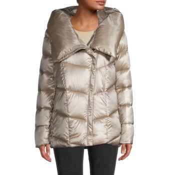 Куртка из смесового пуха с капюшоном Donna Karan