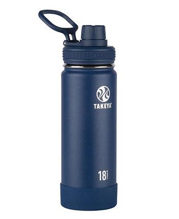 Изолированная бутылка для воды из нержавеющей стали Actives на 18 унций с изолированной крышкой с носиком Takeya