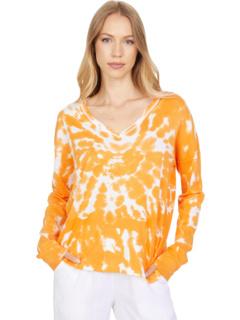Богемный свитер с V-образным вырезом и завязками Elliott Lauren