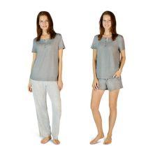Women's Eddie Bauer Bliss 3-piece Knit Pajama Pants, Shorts & Tee Set Eddie Bauer