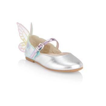 Маленькая девочка & amp; Туфли на плоской подошве для девочек Chiara Mary Jane Sophia Webster