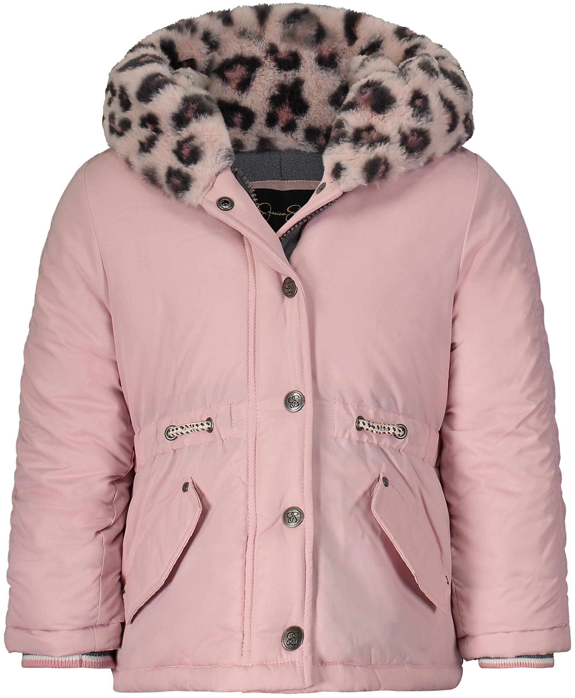 Пышное зимнее пальто с уютным обрезанным капюшоном Jessica Simpson