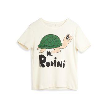 Little Kid's & amp; Детская футболка из органического хлопка с черепахой Mini rodini