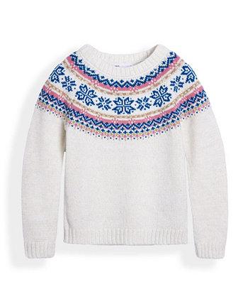 Toddler Girls Fairisle Graphic Sweater Epic Threads