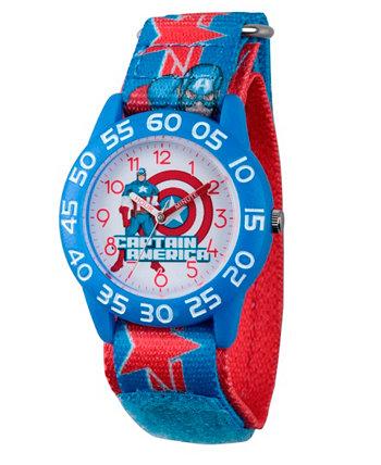 Мстители Marvel собирают голубые пластиковые часы для учителей Captain America Boys Ewatchfactory