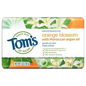 Tom's of Maine Natural Bar Soap Orange Blossom with Moroccan Argan Oil 5-oz. Tom's of Maine