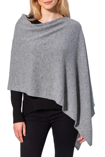 Cashmere Solid Knit Poncho AMICALE
