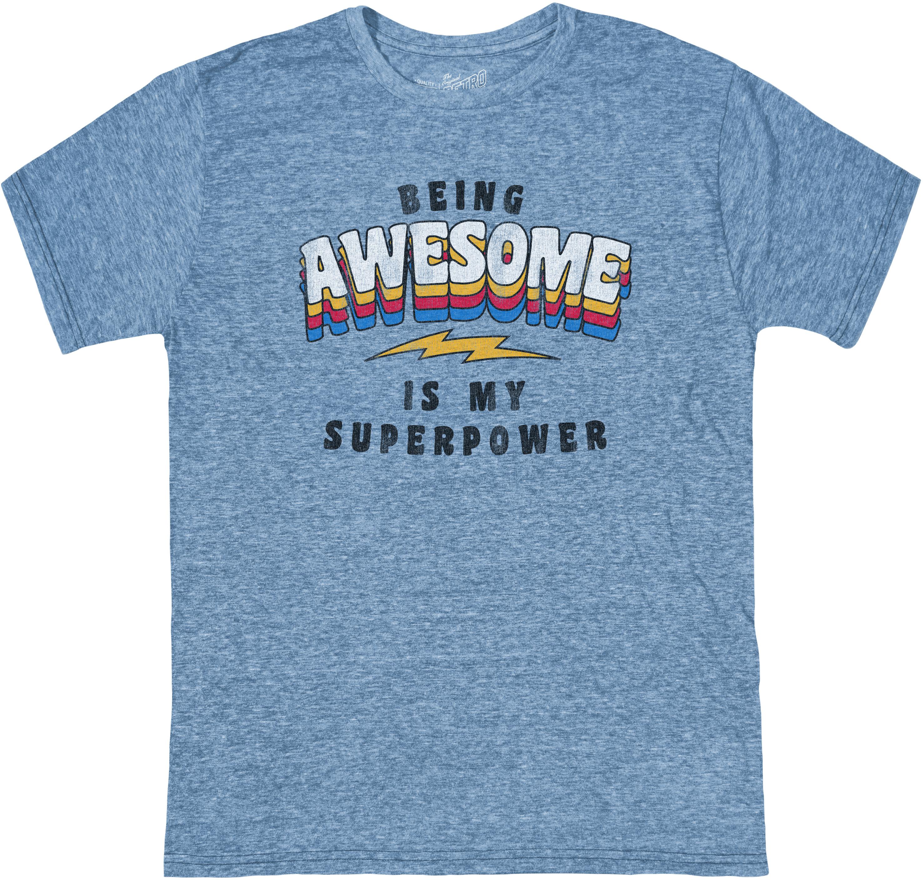 Футболка Tri-Blend Being Awesome Is My Super Power (для больших детей) The Original Retro Brand Kids