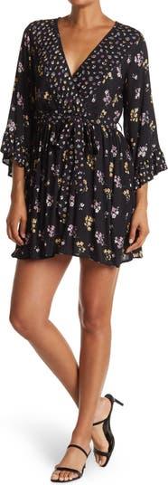 V-Neck Bell Sleeve Dress Angie