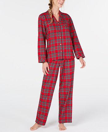 Подходящий женский семейный пижамный комплект Brinkley Plaid, созданный для Macy's Family Pajamas