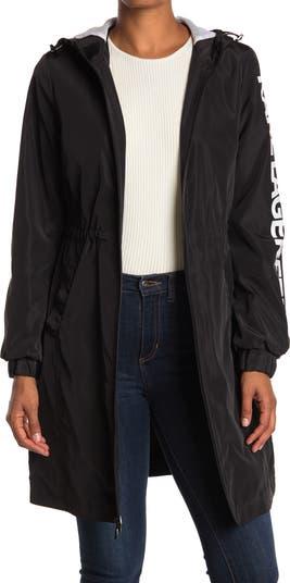 3/4 Length Logo Sleeve Windbreaker Karl Lagerfeld Paris