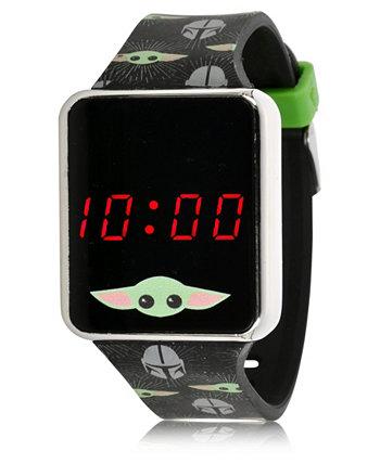 Наручные часы Baby Yoda с сенсорным экраном и черным силиконовым ремешком из звездных войн со светодиодной подсветкой, 36 мм x 33 мм ACCUTIME