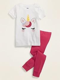Пижамный комплект с изображением единорога унисекс для малышей и малышей Old Navy
