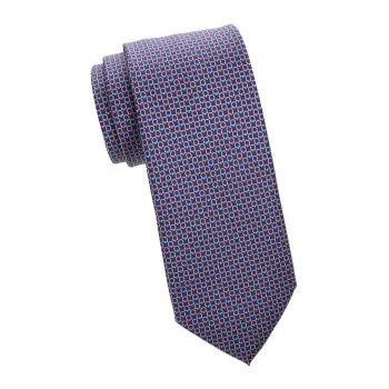 Разноцветный шелковый галстук Gancini Salvatore Ferragamo