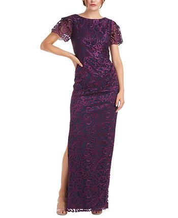 Платье с вышивкой на рукавах JS Collections