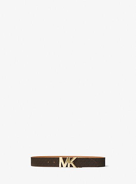 Двусторонний логотип и кожаный пояс на талии Michael Kors