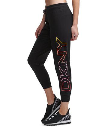 Укороченные брюки-джоггеры с логотипом Sport Ombré DKNY