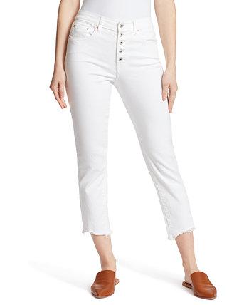 Укороченные прямые джинсы с высокой посадкой Ella Moss