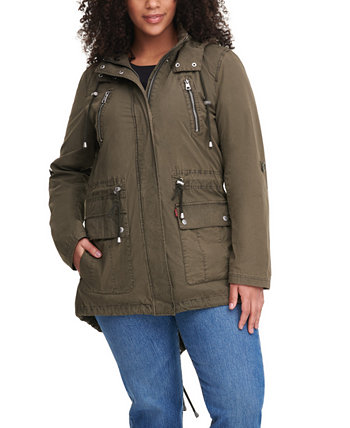 Модная легкая куртка с капюшоном из хлопка с парашютом больших размеров Levi's®