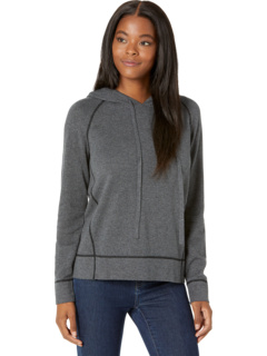 Modal Novelty Hooded Pullover with Contrast Stitching Detail Elliott Lauren