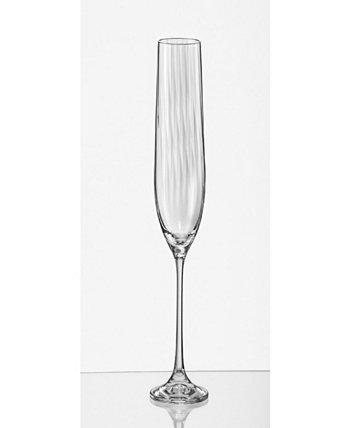 Бокал для шампанского Viola Optic с канавками 6,5 унций, набор из 6 шт. Red Vanilla