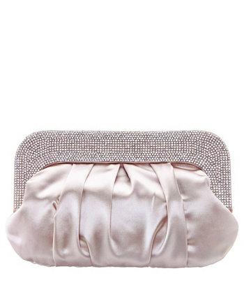 Crystal Collar Soft Clutch Nina