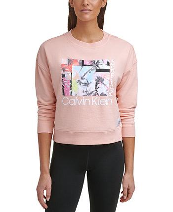 Толстовка с логотипом и графикой Calvin Klein