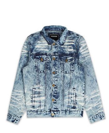 Мужская пляжная джинсовая куртка в винтажном стиле Reason