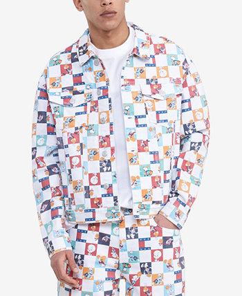 Куртка Hilfiger Men's Space Jam: A New Legacy x Tommy Jeans в шахматном порядке Tommy Hilfiger