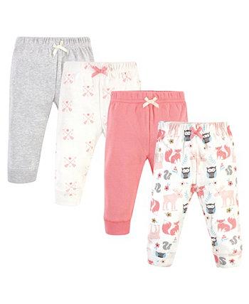 Хлопковые брюки и леггинсы для маленьких девочек Hudson Baby