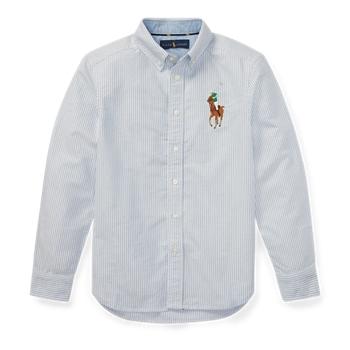Оксфордская рубашка в полоску Big Pony Ralph Lauren