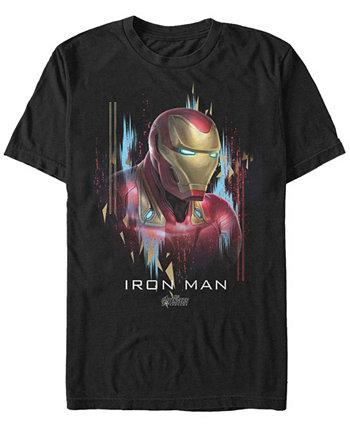 Мужская футболка с короткими рукавами Ironman Marvel