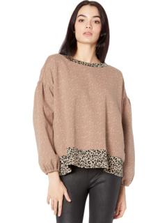 Пуловер с длинными рукавами и леопардовым принтом Miss Me
